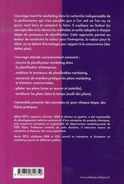 La planification marketing et commerciale - 4ème de couverture - Format classique