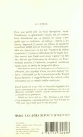 Affliction - 4ème de couverture - Format classique