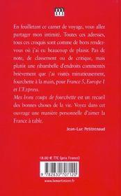 Mes Bons Coups De Fourchette 2003-2004 (Reactualisation) - 4ème de couverture - Format classique