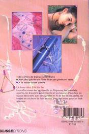 Bijoux En Perles Et Fil De Fer - 4ème de couverture - Format classique