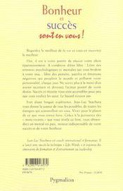 Bonheur Et Succes Sont En Vous ! - 4ème de couverture - Format classique