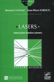 Lasers ; interaction lumière-atomes - Intérieur - Format classique