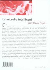 Le microbe intelligent - 4ème de couverture - Format classique