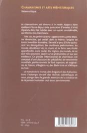 Chamanismes et arts préhistoriques - Couverture - Format classique