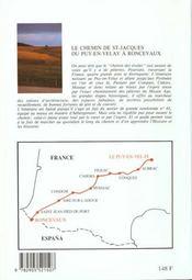 St-jacques du puy a roncevaux gr65 - 4ème de couverture - Format classique