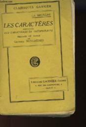 Les Caracteres Precedes Des Caracteres De Thophraste - Couverture - Format classique