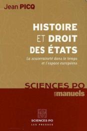 Histoire et philosophie des etats - Couverture - Format classique