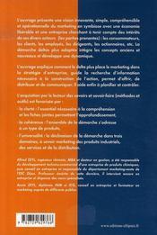 Précis de marketing ; approche par les deltas + - 4ème de couverture - Format classique