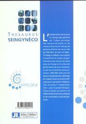 Thesaurus Seingyneco - 4ème de couverture - Format classique