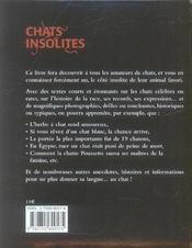 Chats insolites - 4ème de couverture - Format classique