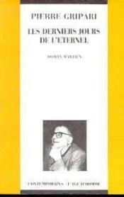 Les Derniers Jours De L'Eternel - Couverture - Format classique