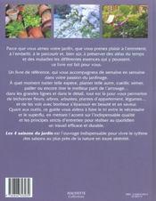 Les 4 Saisons Du Jardin - 4ème de couverture - Format classique
