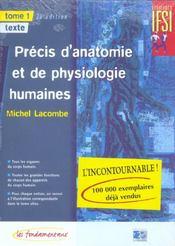 Precis D Anatomie Et De Physiologie - 28 Edition 2 Volumes - Intérieur - Format classique