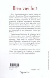 Bien Vieillir ! Remedes A L'Usure Mecanique Du Corps - 4ème de couverture - Format classique
