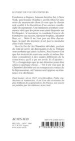 La Chambre Derobee - 4ème de couverture - Format classique
