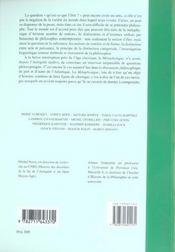 La métaphysique d'aristote ; perspectives contemporaines - 4ème de couverture - Format classique