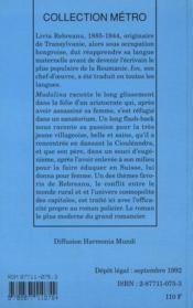 Madalina - 4ème de couverture - Format classique