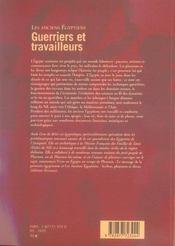 Les Anciens Egyptiens T.2 ; Guerriers Et Travailleurs - 4ème de couverture - Format classique