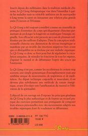 Rajeunissez par le qi gong - 4ème de couverture - Format classique
