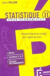 Statistique Ii - Intérieur - Format classique