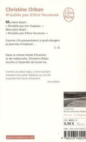 N'oublie pas d'etre heureuse – Christine Orban