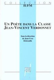 Un Poete Dans La Classe ; Jean -Vincent Verdonnet - Intérieur - Format classique