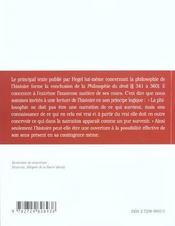 Principes De La Philosophie Du Droit L'Histoire Du Monde Chapitres 341 360 Hegel Texte & Commentaire - 4ème de couverture - Format classique