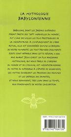 La mythologie babylonnienne - 4ème de couverture - Format classique