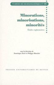 Minorations Minorisations Minorites. Etudes Exploratoires - Couverture - Format classique
