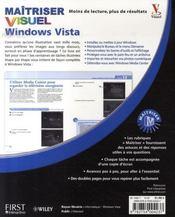 Maîtriser windows vista visuel - 4ème de couverture - Format classique