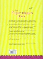 Pique Niques Plaisir - 4ème de couverture - Format classique