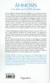 Ahmosis et le début de la XVIII dynastie - 4ème de couverture - Format classique