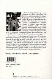 Christian Gailly L Ecriture Qui Sauve - 4ème de couverture - Format classique