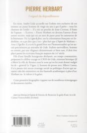 Pierre Herbart ou l'orgueil du dépouillement - 4ème de couverture - Format classique