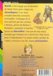 Le Chevalier De Haute-Terre - 4ème de couverture - Format classique