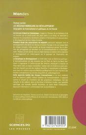 Les réseaux marocains du développement ; géographie du transnational et politiques du territorial - 4ème de couverture - Format classique