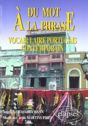 Du Mot A La Phrase Vocabulaire Portugais Contemporain - Intérieur - Format classique