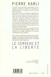 Le Cerveau Et La Liberte - 4ème de couverture - Format classique