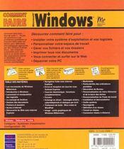 Windows Millenium ; Comment Faire - 4ème de couverture - Format classique
