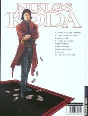 Niklos Koda t.7 ; magie blanche - 4ème de couverture - Format classique