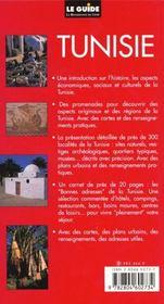 Guide De La Tunisie - 4ème de couverture - Format classique
