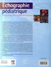 Échographie pédiatrique - 4ème de couverture - Format classique