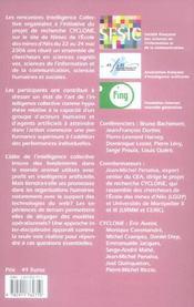 Intelligence collective. rencontres 2006 - 4ème de couverture - Format classique