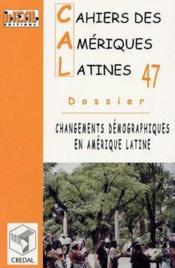 Changements démographiques en Amérique latine - Couverture - Format classique
