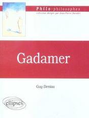 Gadamer - Intérieur - Format classique