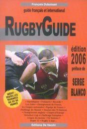 Rugby Guide 2006 - Intérieur - Format classique