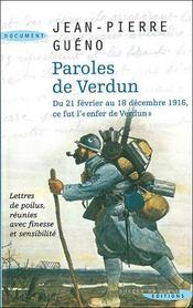 Paroles de Verdun - Intérieur - Format classique