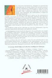 Les Bacteries, Champignons Et Parasites Transmissibles De La Mere A L'Enfant - 4ème de couverture - Format classique