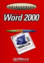 Guidexpress word 2000 - Couverture - Format classique
