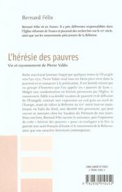 L'Heresie Des Pauvres - 4ème de couverture - Format classique